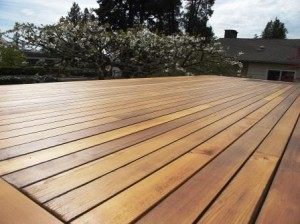 cedar deck covering