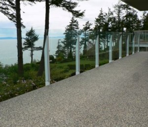 Fascia mount topless glass railings