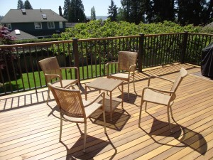 Cedar deck coverings