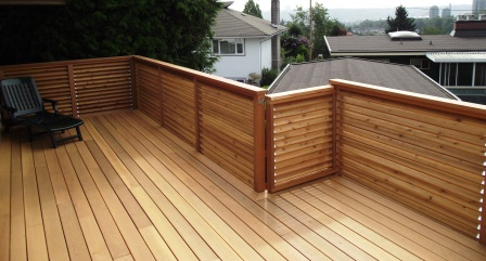 Cedar Decking Amp Pre Stained Cedar Railings