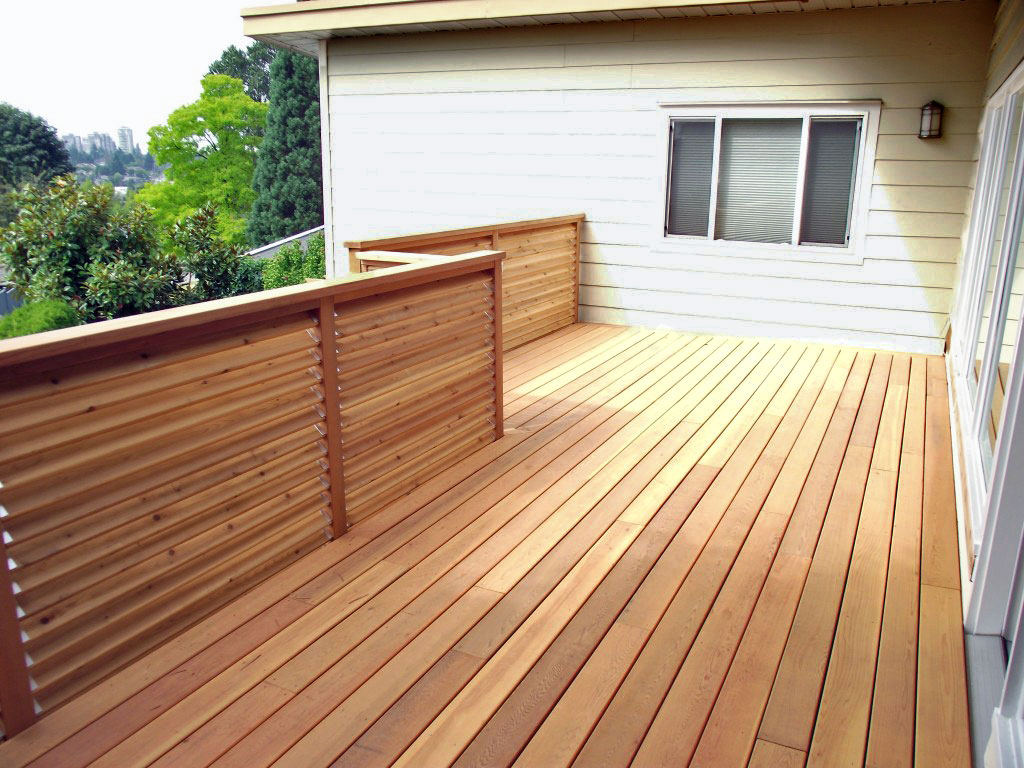 Cedar decking cedar deck installation vancouver for Best material for deck