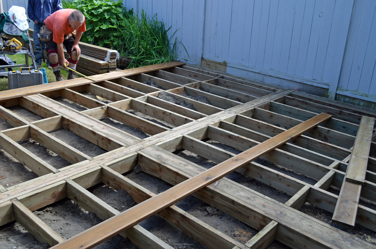 Pressure Treated Wood Decking In North Vancouver