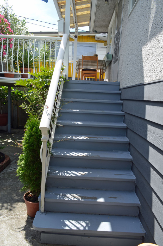 Unsafe exterior stairs