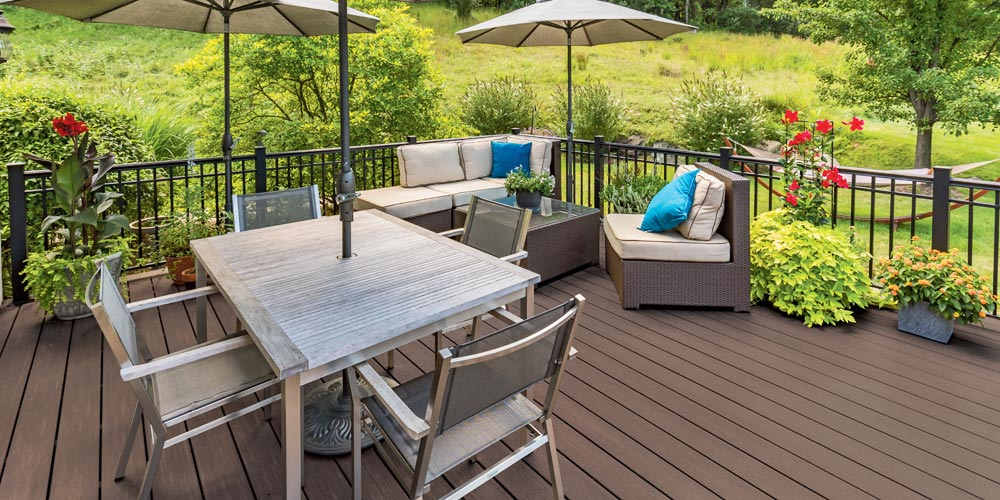 Azek English Walnut Composite Decking