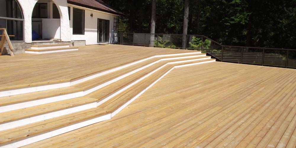 Tight Knot Cedar Decking