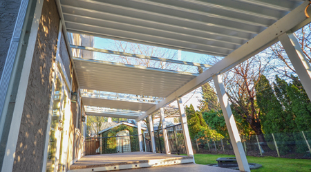 Hybrid aluminum and glass canopy