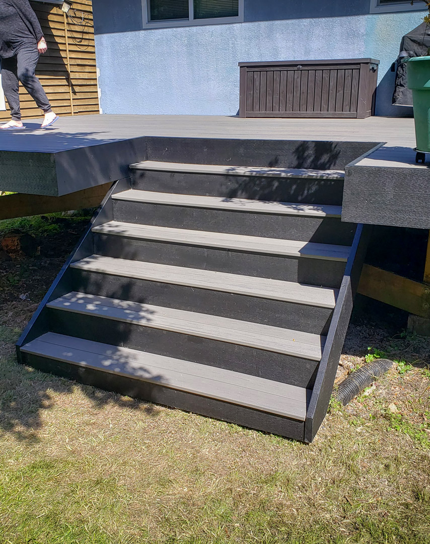 composite decking stairs